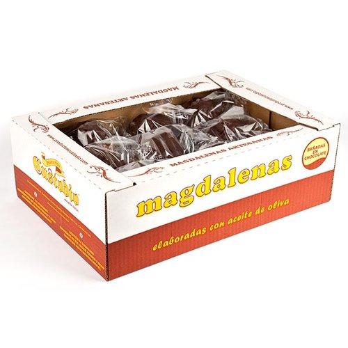 Magdalenas cubiertas de chocolate