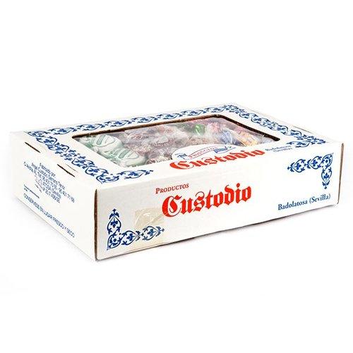 Caja de productos navideños