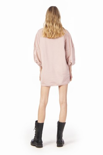 Vestido rosa sudadera parche brillantes Odi et Amo