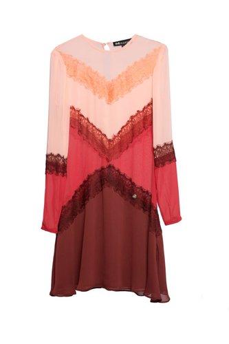 Vestido tricolor encaje MASAVI