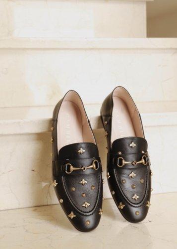 Slippers piel butterfly Black
