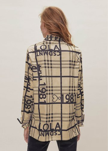 Camisa bicolor cuadros Lola Casademunt