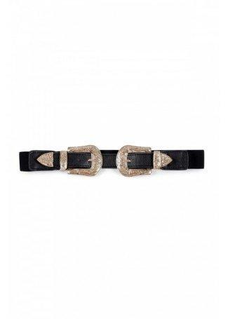 Cinturón Doble Hebilla Elástico.