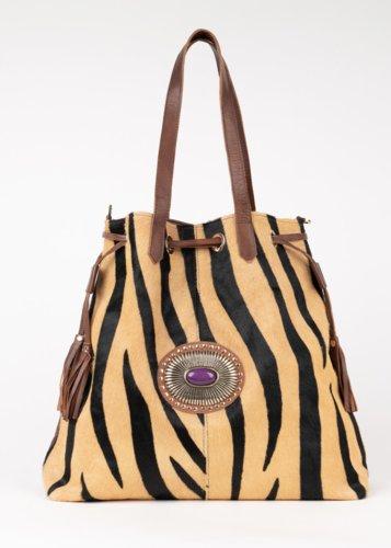 Shopper piel Capri Cebra