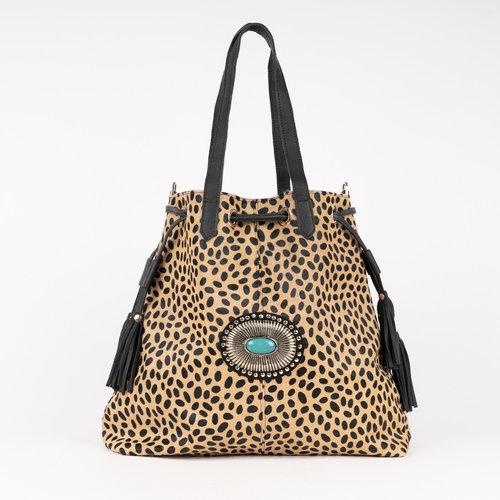 Shopper piel Capri Leopardo