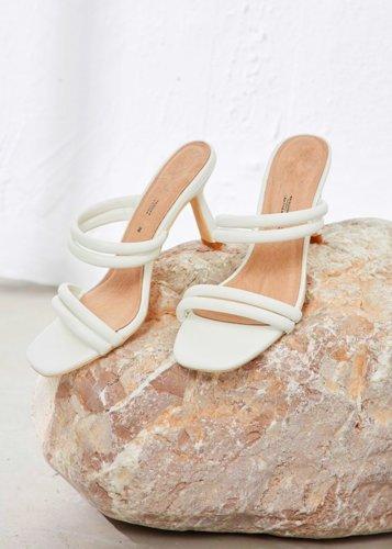 Sandalias ecopiel blancas