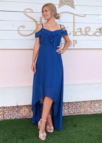 Vestido gasa azul