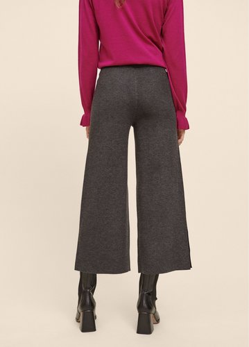Pantalón de punto gris con detalles en dorado Lola Casademunt