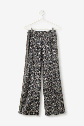Pantalon fluido estampado floral