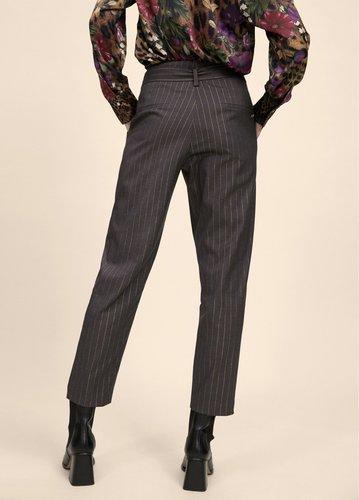 Pantalón gris con rayas diplomáticas en dorado Lola Casademunt