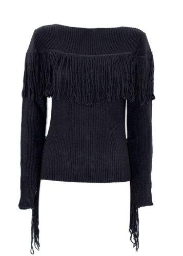 Jersey lana y alpaca Flecos negro Relish