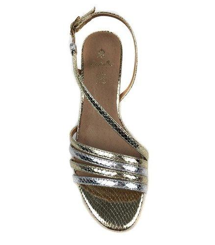 Sandalias oro y plata