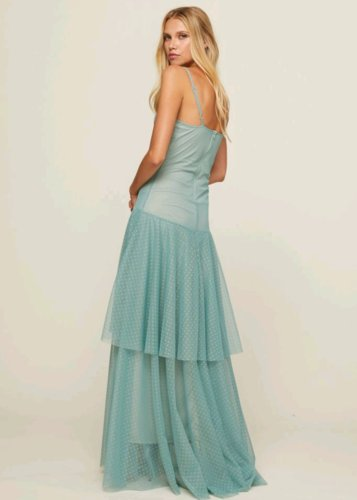 Vestido Paula Aguamarina