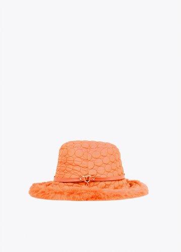 Sombrero acolchado negro Lola Casademunt