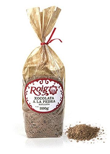 Chocolate a la Piedra Rayada Chocolate familiar a la taza para su consumo cocido (cacao 37% mínimo). Peso neto 200g