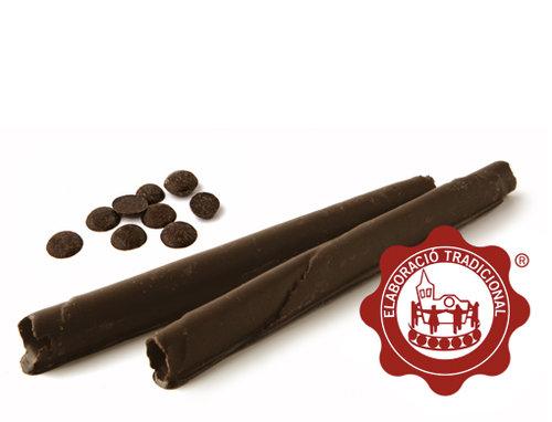 Barquillos con chocolate. Peso neto 180g