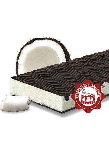Turrón de coco bañado con xocolate (coco 45%). Calidad Suprema. Peso neto 300g