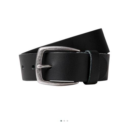 Cinturón negro vestir cab.