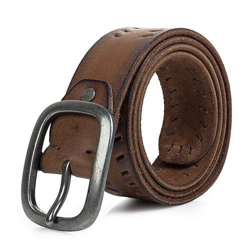 Cinturón marrón efecto envejecido