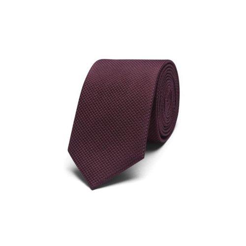 Corbata vestir granate J&J