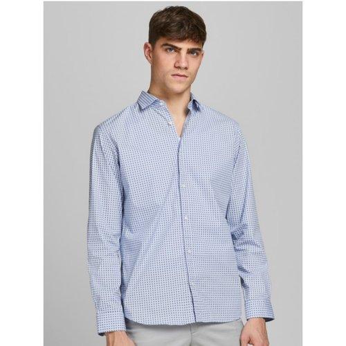 Camisa m/larga azul.