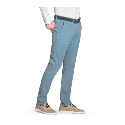 Pantalón algodón semi sport azul