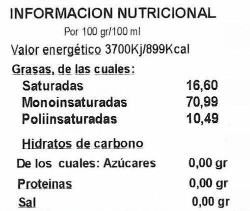 Aceite de oliva virgen extra ecológico botella Dórica 500 Ml